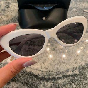 NWT-DIFF Cleo White Cateye Sunglasses
